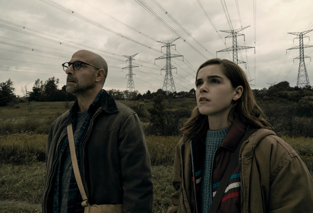 "Stanley Tucci and Kiernan Shipka in ""The Silence""/Netflix"